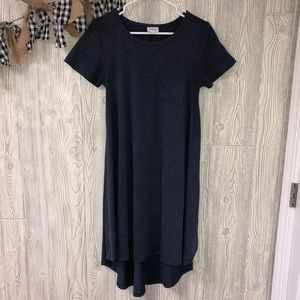 Lularoe navy blue carly dress size XXS